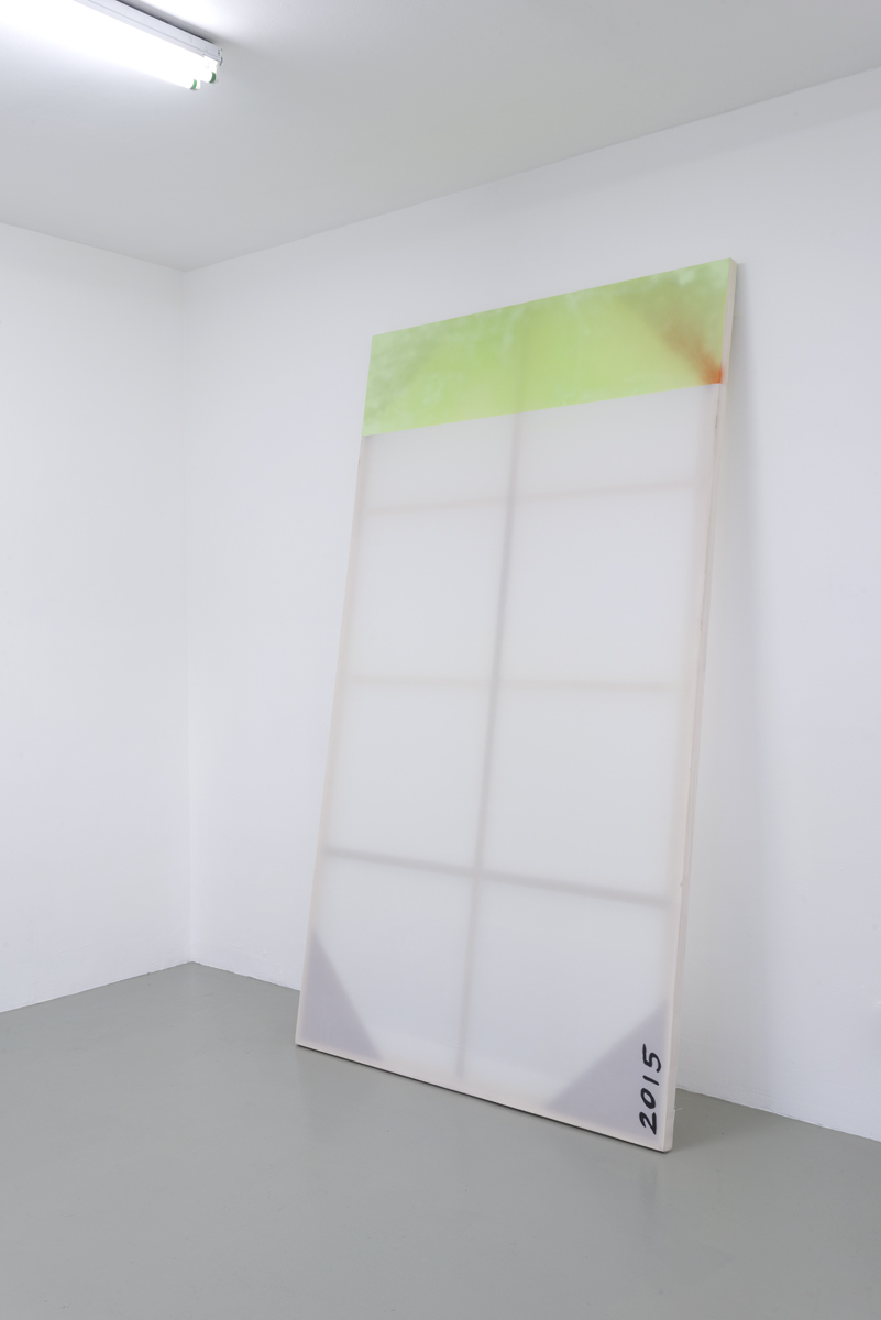 - Ed Lehan. 2015 16:9, 2015, acrylic spray paint on polyester, 47 x 84 inches, unique