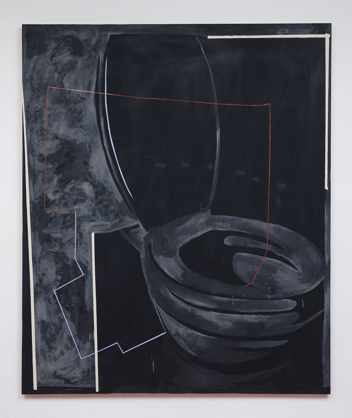 Mathieu Malouf - Big Toilet, 2016, Oil and acrylic on canvas, 72 x 60 inches