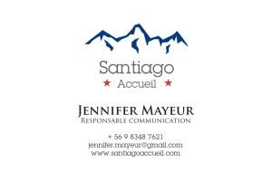 Carte de visite Santiago Accueil