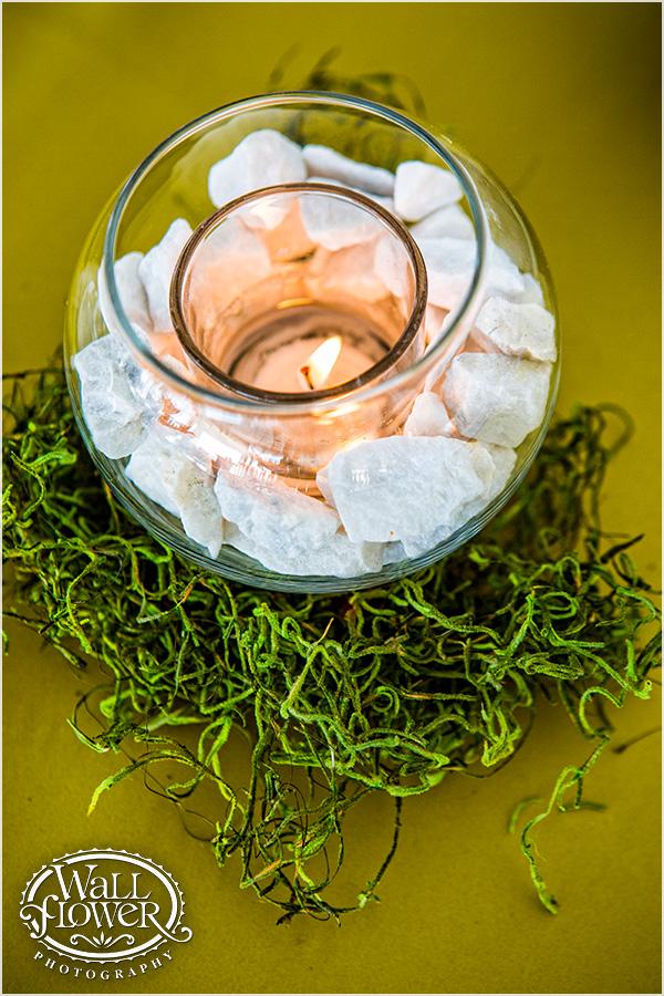 White Rock Filled Votive Holder by Jen's Blossoms   Photo By: Wallflower Photography