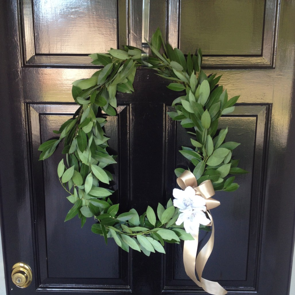 Fresh Bay Leaf Wreath by Jen's Blossoms