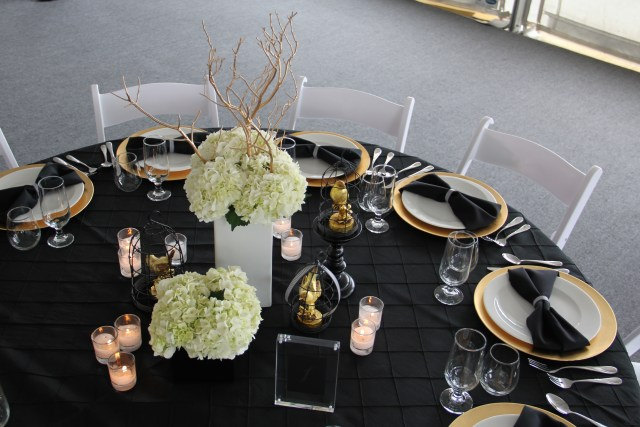 Black White & Gold Table Top