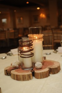 Homemade Coffee Table from Wedding Centerpieces! | JustJen