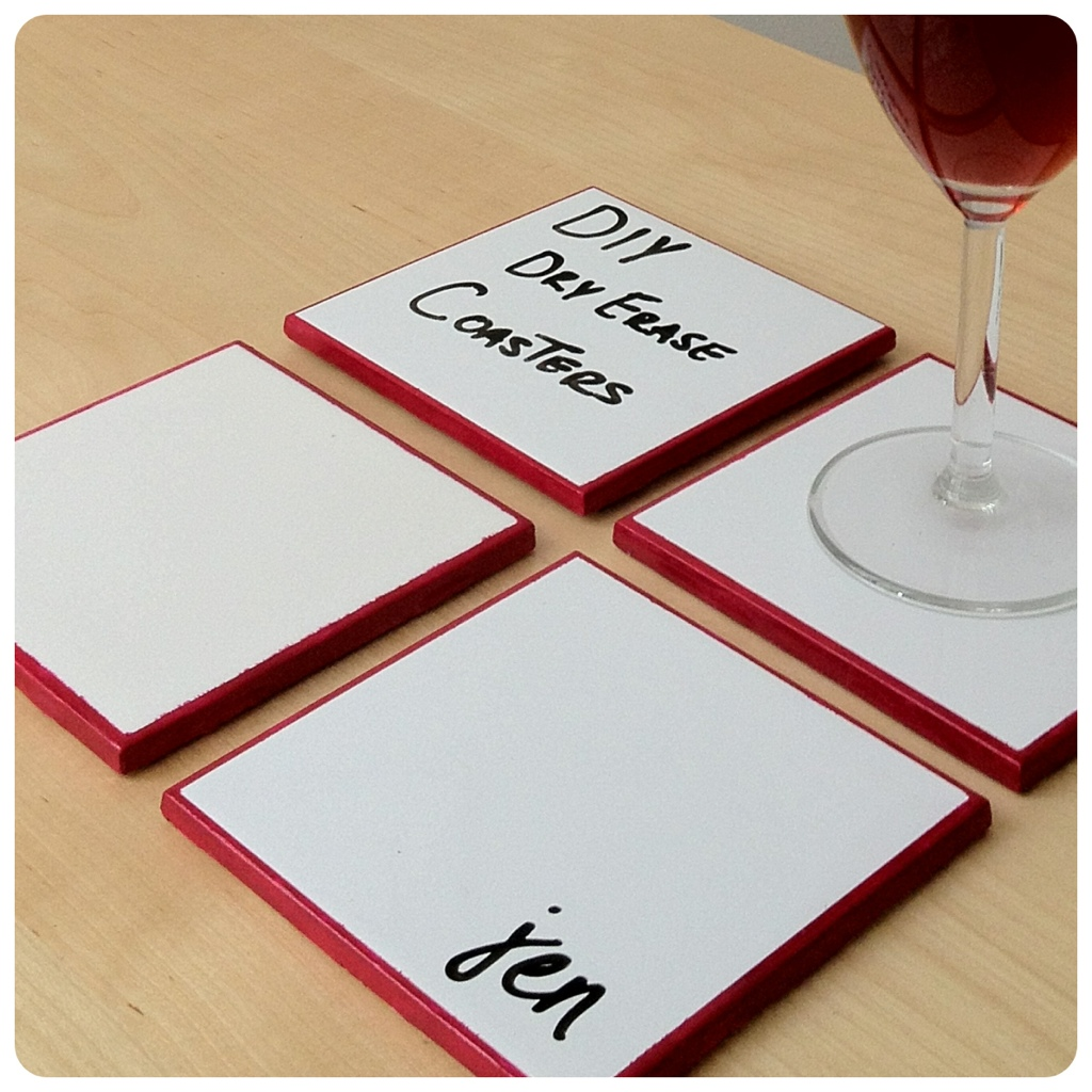 Diy Table Coasters Diy Dry Erase Coasters Jentertaining