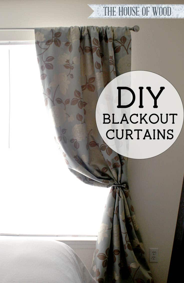 How To Make Lined Curtain Panels Diy Blackout Lined Curtains