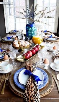 Christmas morning breakfast table setting