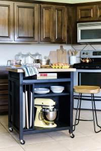 DIY Rolling Kitchen Island