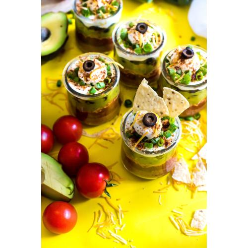 Medium Crop Of Layered Mexican Dip