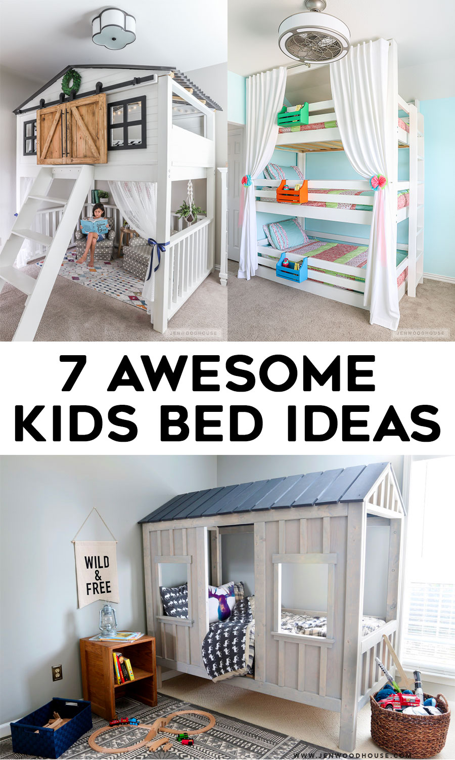 Cheap Kids Beds Online 7 Awesome Diy Kids Bed Plans Bunk Beds Loft Beds The House