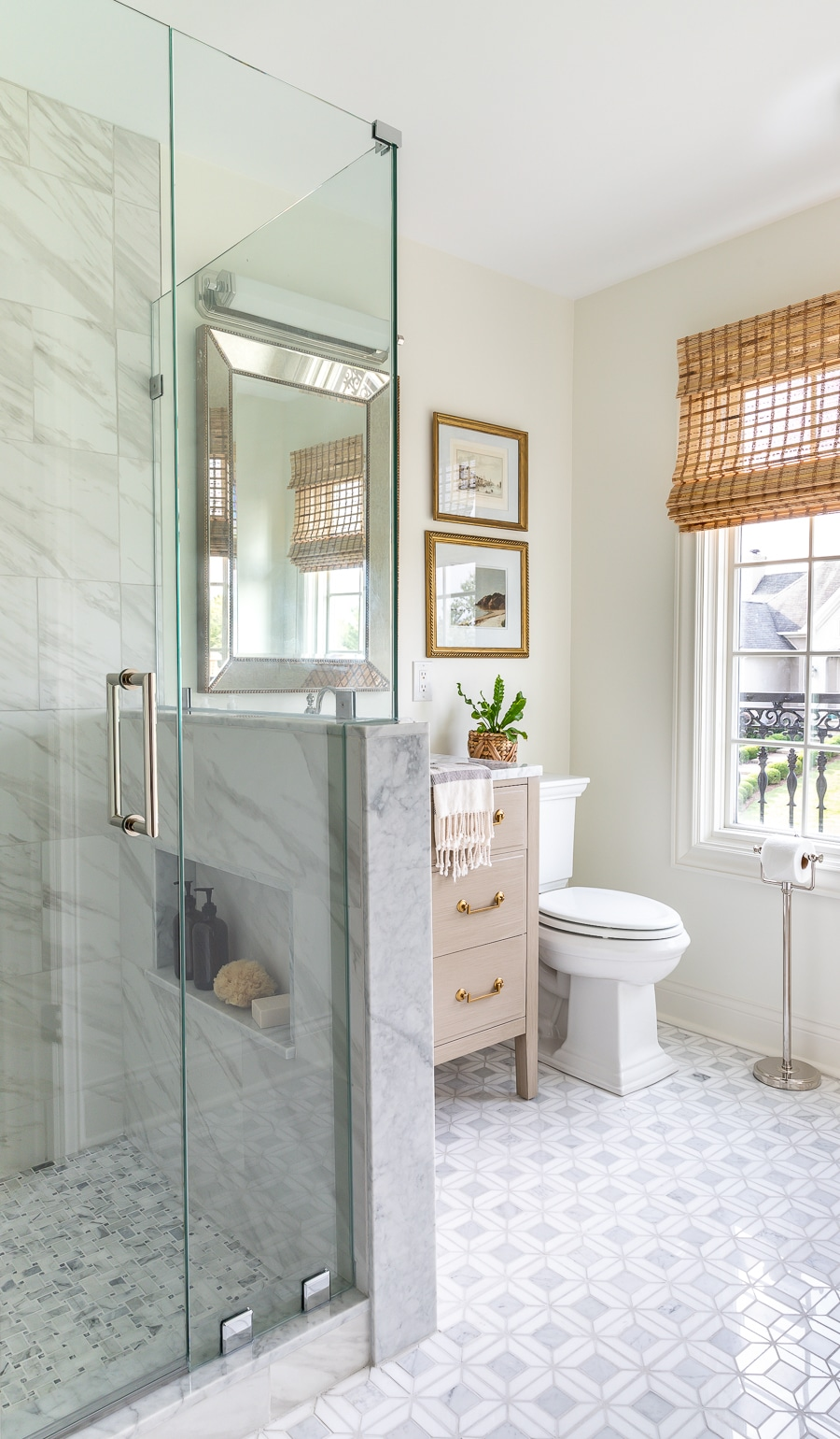 Guest Bathroom Renovation The Big Reveal Stunning Marble Mosaic Tile