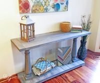 How to Build a DIY Balustrade Console Table