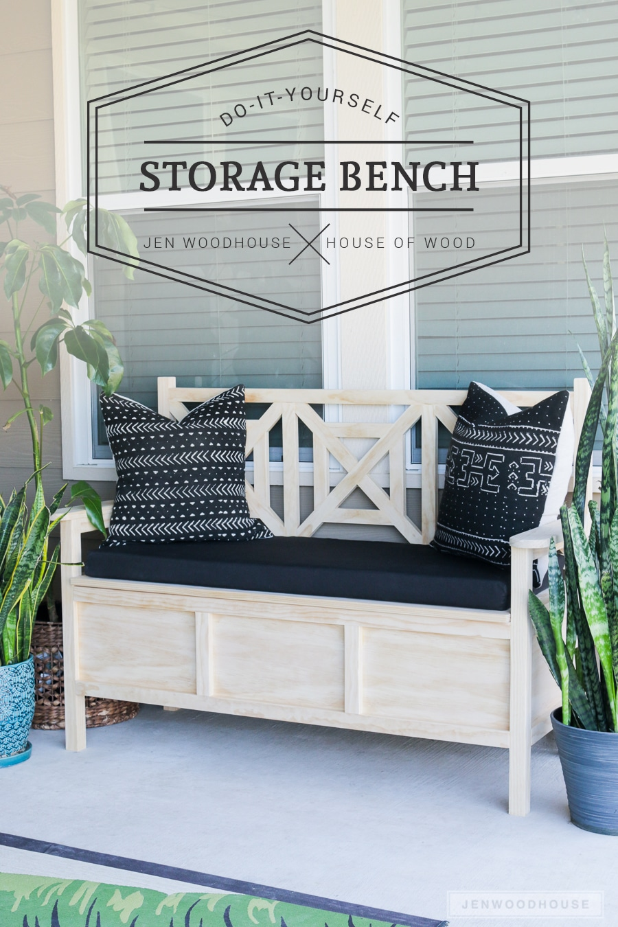 Seating With Storage Underneath How To Build A Diy Outdoor Storage Bench