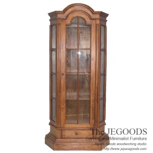 Louis Colonial 1 Door Cabinet Display