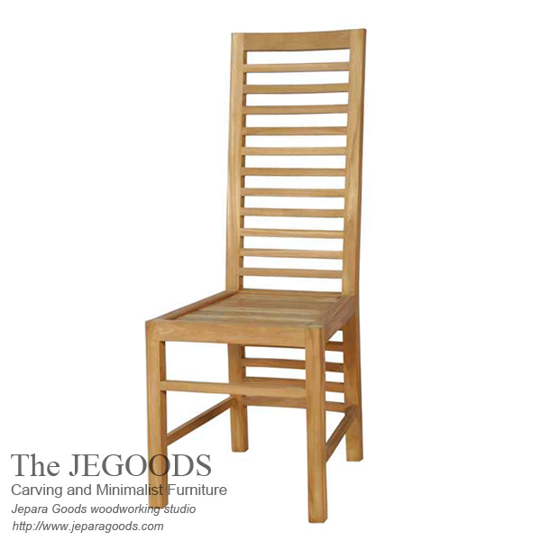 New balero teak dining chair minimalist furniture jepara for Furniture jepara