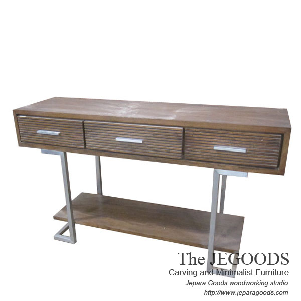 Iron wood console table by jegoods woodwork mebel for Furniture jepara