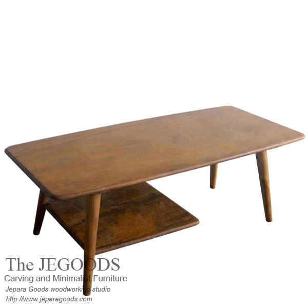 Jengki long retro coffee table supplier mebel retro for Furniture jepara
