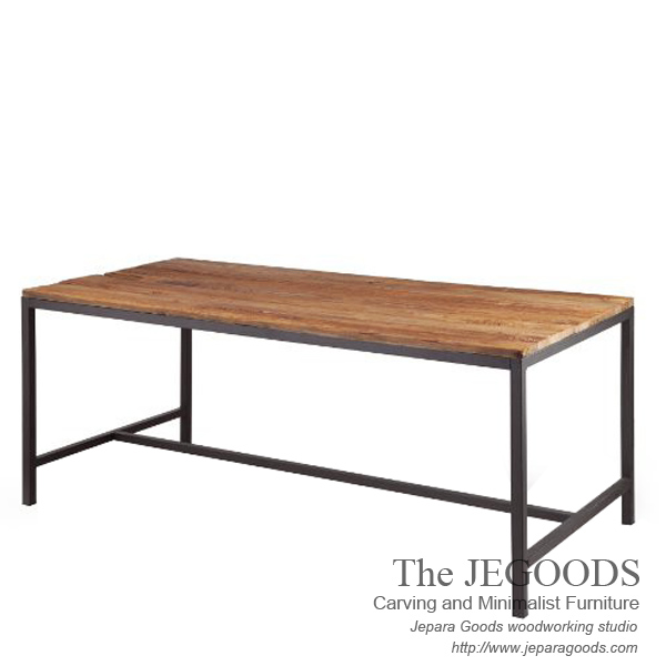 Gagah rustic dining table mebel meja makan finishing for Furniture jepara