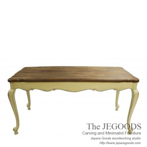 Country Farm Dining Table Rustic Top
