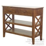 Crossing Console Table 2 Drawers 2 Shelves