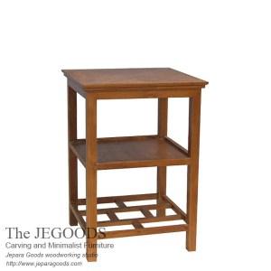 Pesagi End Table Teak Minimalist