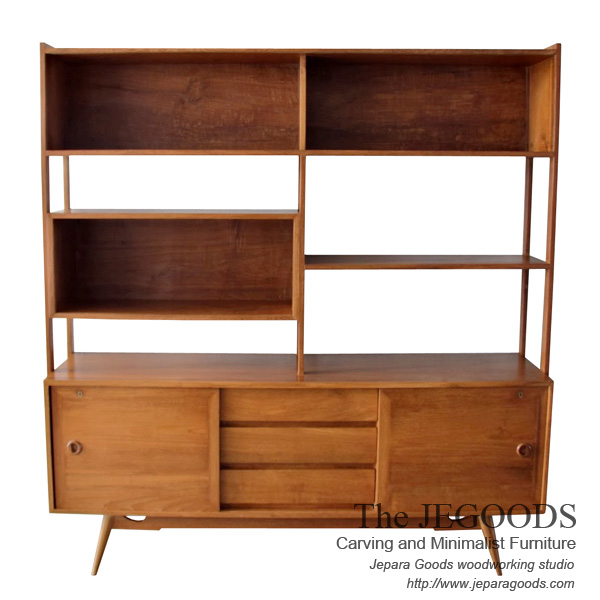 Wall cabinet cupboard java big model cabinet retro for Furniture jepara