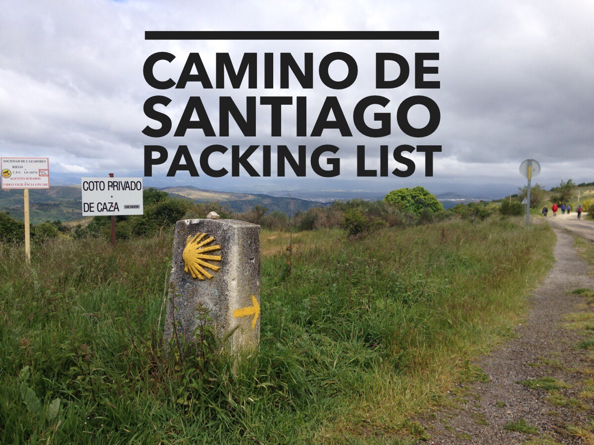 Camino Santiago Packing List Camino De Santiago Packing List Dr Jeremiah Gibbs