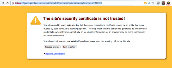 SSL certificate issue