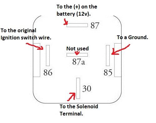 12v starter relay wiring diagram