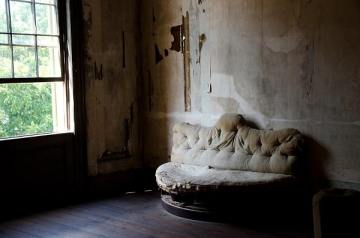 Abandoned Building and Old Couch