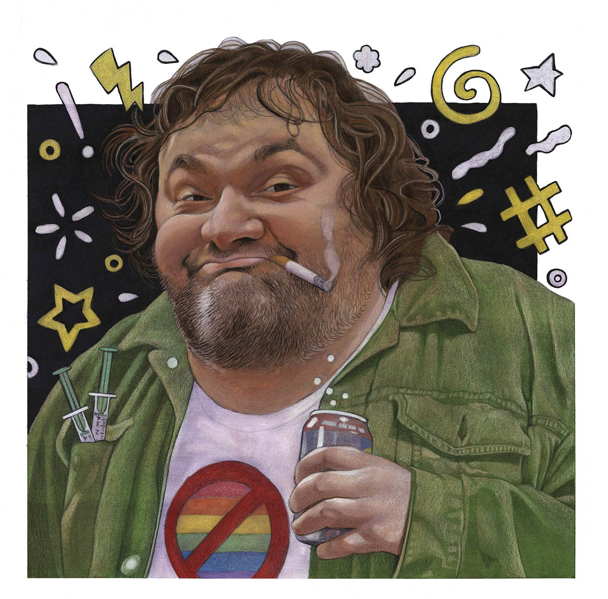 Artie Lange New York Chatting With Artie Lange Jerry Miller Illustration