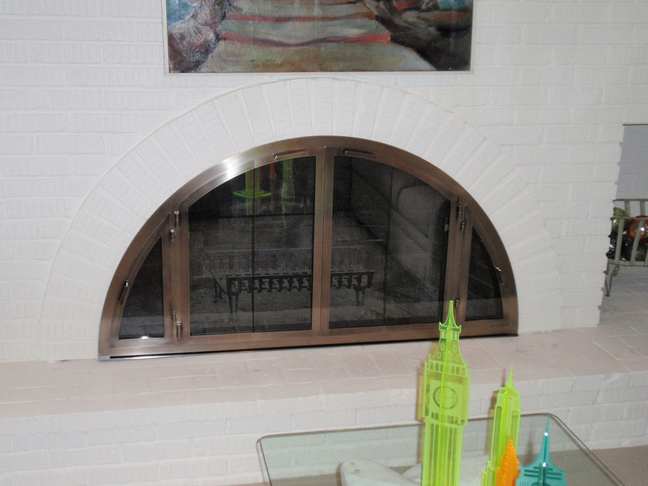 Custom Glass Fireplace Doors Fireplace Glass Doors And Screens Custom Handcrafted Fireplace Doors