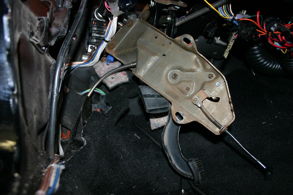 emergency brake removal