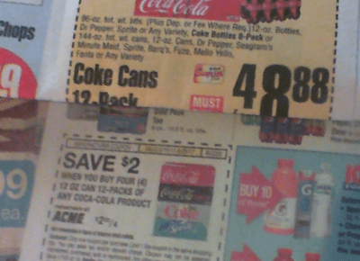 Coke Acme ShopRite