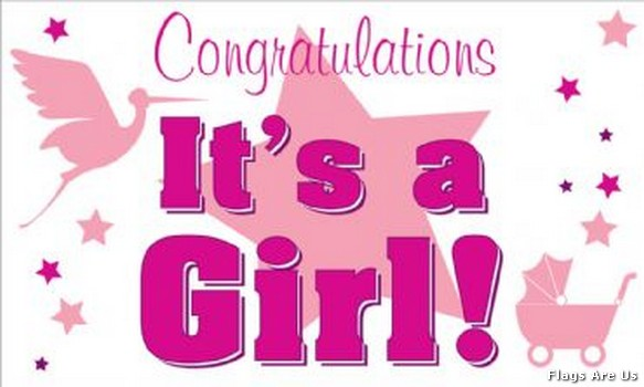congratulations its a baby girl