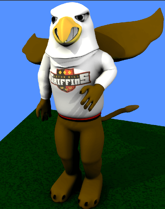 Blender 3D Griffin Mascot, Rigged