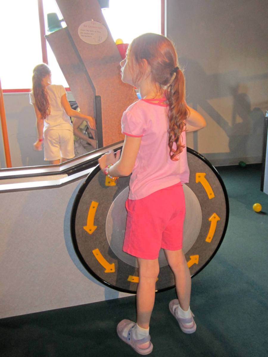 Astounding device, designed to suck energy out of children. Not that it slowed her down at all...