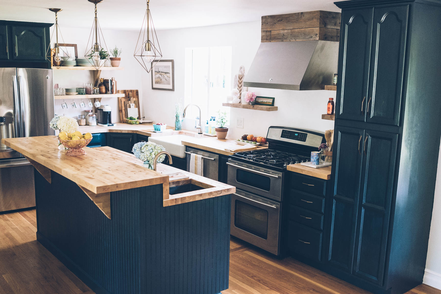 Painted 60s Kitchen Cabinets Our Kitchen Renovation Full Reveal Jess Ann Kirby