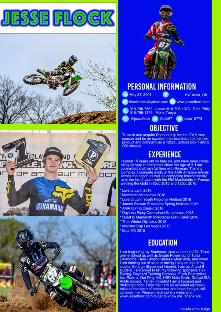 motocross resume - Alannoscrapleftbehind