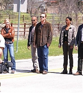 Jesse Metcalfe - filming Chase pilot in Dallas, TX