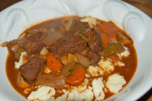 Homemade Spaetzle and Dad's Beef Stew