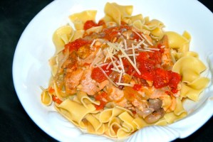 Crock Pot Wine & Tomato Braised Chicken