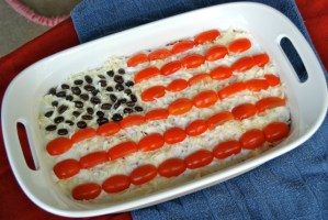 American Flag 7-Layer Dip