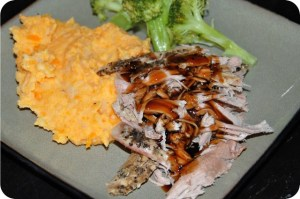 Crock Pot Balsamic Glazed Pork Tenderloin