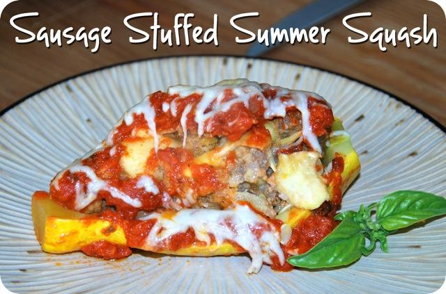 Sausage Stuffed Summer Squash