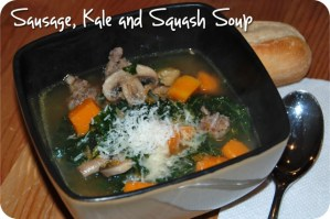 SRC: Sausage, Kale and Squash Soup