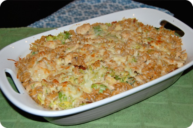 Chicken, Bacon and Brussels Sprouts Mac and Cheese