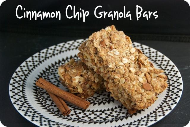 Cinnamon Chip Granola Bars