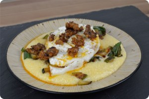 SRC: Baked Halibut with Chorizo Butter