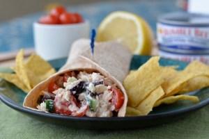 Greek Tuna Salad Wraps
