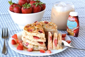Fresh Strawberry Banana Pancakes